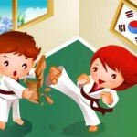 children-s-taekwondo-motion-vector-material_15-6104